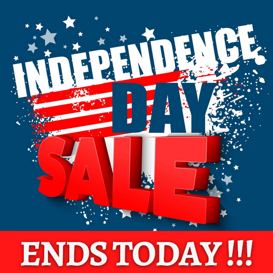 Independence Day Sale - Ends Today